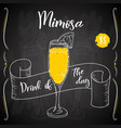 mimosa cocktail hand drawn drink on white vector image vector image
