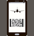 modern electronic mobile boarding pass icon vector image vector image