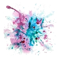Multicolor watercolor splash vector image vector image