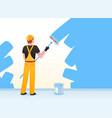 painter decorator repairman people at work vector image