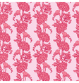 pink flowers 3 380 vector image vector image