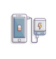 power bank charging smartphone battery concept vector image vector image