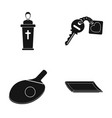 priest key with a charm and other web icon in vector image vector image