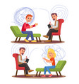 psychiatry psychology professional consultation vector image vector image