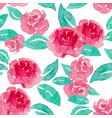 red rose seamless pattern vector image vector image