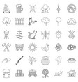 region icons set outline style vector image vector image