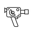 retro 8mm film camera vector image