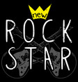 rock graphic design with guitar vector image