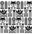 scandinavian seamless folk pattern vector image