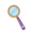 school magnifier search discovery science vector image