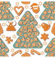 seamless pattern christmas or new year vector image