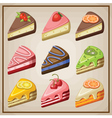 Set of cakes and cheesecakes vector image