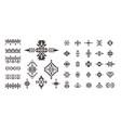 set of decorative ethnic elements isolated