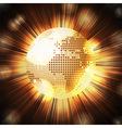 Sparkling World globe light explosion vector image vector image