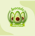 vegetable avocado always fresh emblem vector image