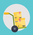 Warehouse icons logistic blank and transportation vector image