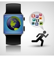 wearable technology tracker fitness health vector image