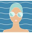 Woman in swimming cap vector image vector image