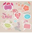 Speech bubbles set love vector image
