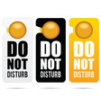 do not disturb design in colorful vector image