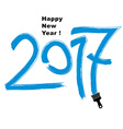 2017 Happy New Year inscription made with b vector image vector image