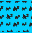 a seamless pattern of cute puppy vector image vector image
