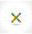 Abstact X Logo template vector image vector image