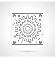 Abstract virion icon flat line design icon vector image vector image
