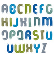 acrylic hand-painted colorful capital letters vector image vector image