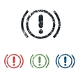 Alert grunge icon set vector image vector image