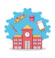 back to school icon vector image
