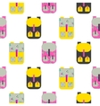 Backpack seamless pattern vector image vector image