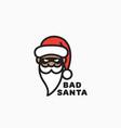 bad santa logo vector image vector image