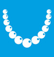 bead icon white vector image vector image