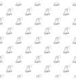 bird singing pattern seamless vector image vector image