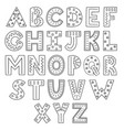 black and white alphabet hand drawn outline abc vector image