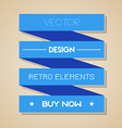 blue retro ribbon Flat design vector image