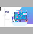 business series - where to buy web template vector image vector image