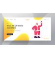 christmas website landing page adorable santa vector image vector image