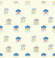 clouds with lightning pattern seamless pattern vector image