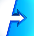 Colorful arrow with blue cut paper layers vector image vector image