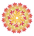 colorful mandala with autumn leaves and branches vector image vector image