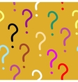 colorful question marks pattern vector image vector image