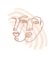 continuous line art face sketch modern abstract vector image vector image