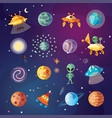 cute cartoon space explorer astronomy science and vector image vector image