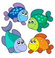 cute fishes set vector image