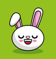 Cute rabbit character kawaii style