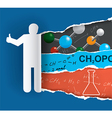 Discovering chemistry vector image vector image
