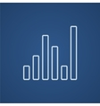 Equalizer line icon vector image vector image