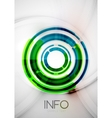 Futuristic rings and circles design template vector image vector image
